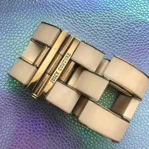 Juicy Couture Chain Link Cuff Bracelet, Ivory Gate